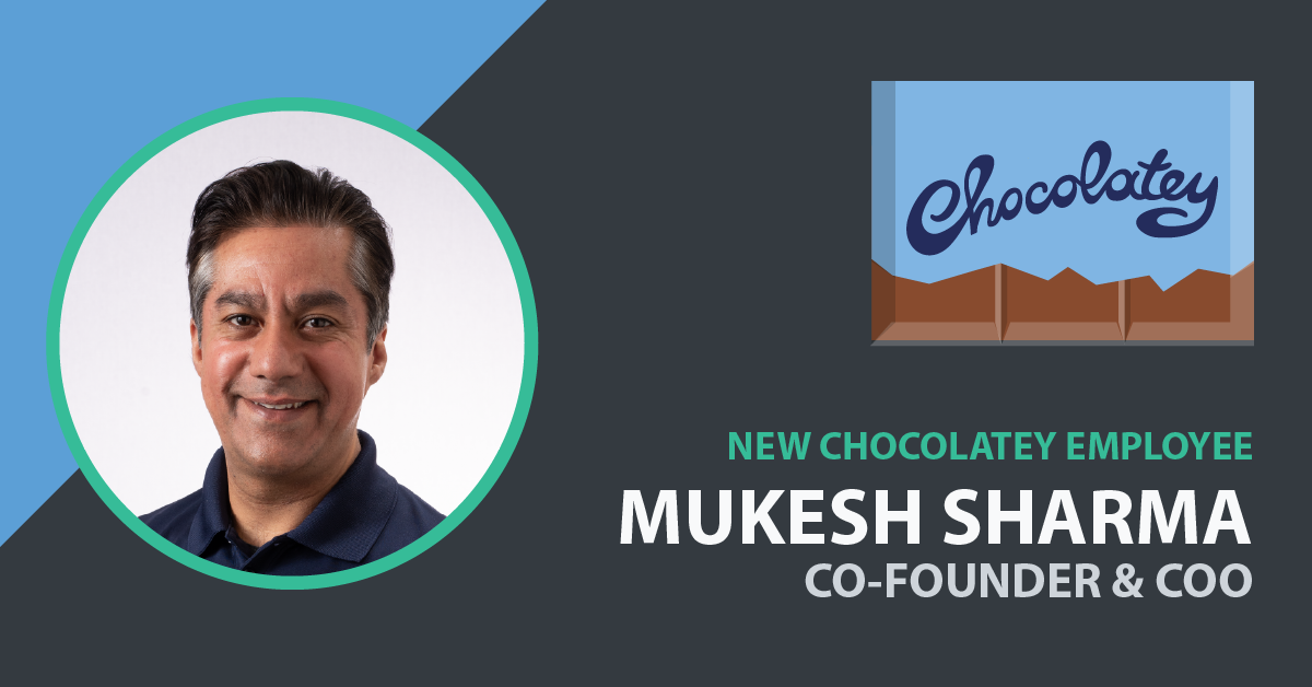 Mukesh Sharma Joins Chocolatey as Chief Operating Officer